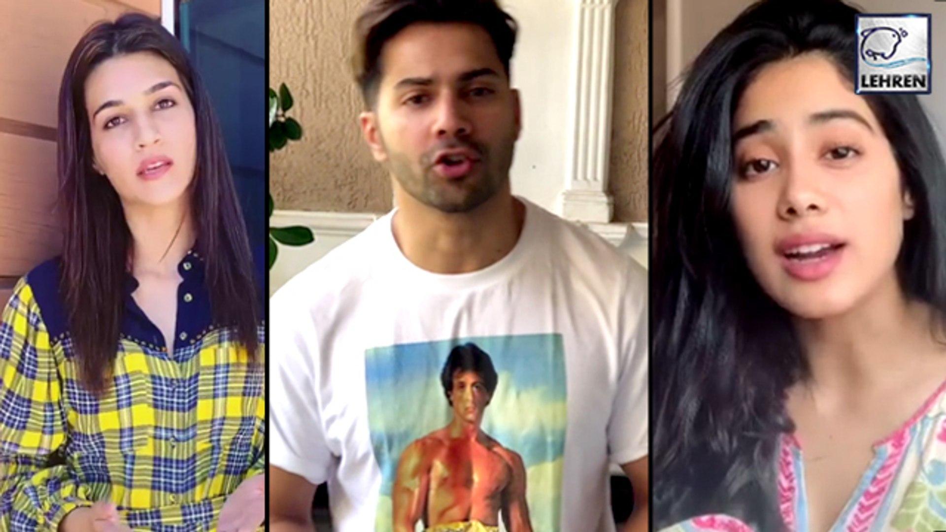 Janhvi, Varun, Arjun And Kriti Takes Vande Mataram Challenge