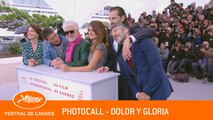DOLOR Y GLORIA -  Photocall - Cannes 2019 - EV