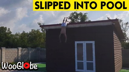 Slipped into the Pool From 10ft || WooGlobe