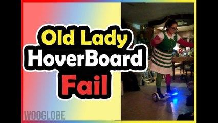 Sister Elf Fail On Hover board