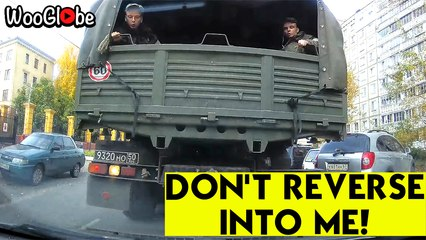 Reverse Military Truck Crash with Epic Response from the driver || WooGlobe