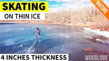 Skating On Thin Ice - 4K Drone Footage