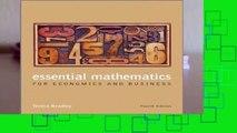 Essential Mathematics for Economics and Business