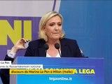 En italien, Marine Le Pen appelle à