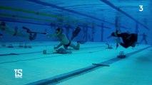 A la découverte du biathlon sous l'eau