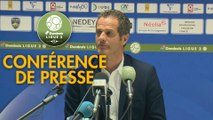 Conférence de presse FC Sochaux-Montbéliard - Grenoble Foot 38 (3-1) : Omar DAF (FCSM) - Philippe  HINSCHBERGER (GF38) - 2018/2019
