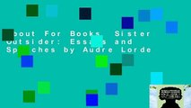 About For Books  Sister Outsider: Essays and Speeches by Audre Lorde