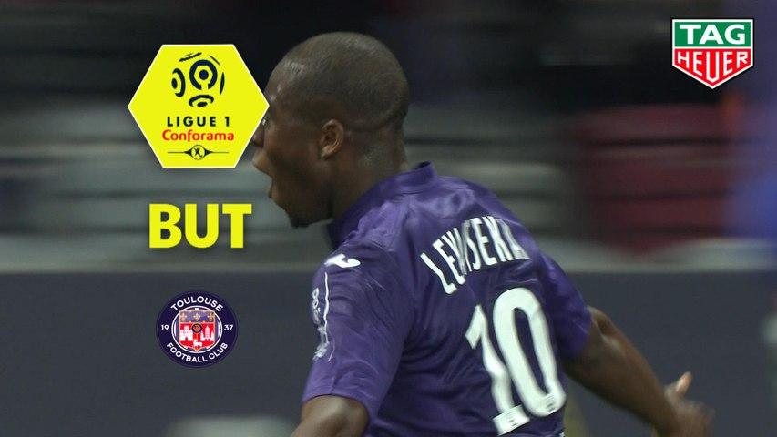 But Aaron LEYA ISEKA (26ème) / Toulouse FC - Olympique de Marseille - (2-5) - (TFC-OM) / 2018-19