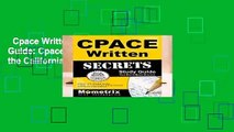 Cpace Written Secrets Study Guide: Cpace Test Review for the California Preliminary