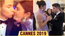 Cannes 2019 | Priyanka Chopra Nick Jonas ADORABLE KISS, Nick Jonas ADJUST Priyanka's Dress