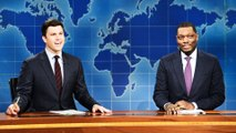 Weekend Update: Colin Jost and Michael Che Switch Jokes