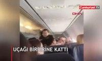 Uçakta rezaletin görüntüsü! İşte o anlar