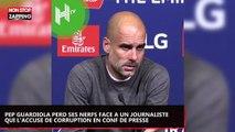 Pep Guardiola perd ses nerfs contre un journaliste qui l'accuse de corruption (vidéo)