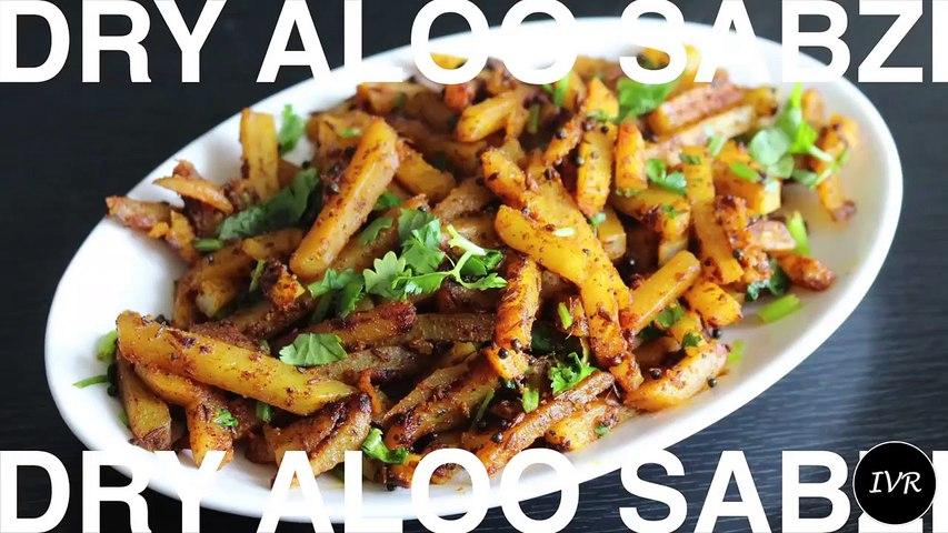 Dry Aloo Sabzi Recipe - Dry Potato Recipe - Sukhe Aloo Ki Sabzi - Aloo Sabzi Recipe