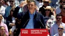 """Sánchez afirma que el proyecto de las """"tres derechas"""" es """"restar derechos y libertades"""""""
