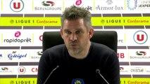 La réaction de Jocelyn Gourvennec après Guingamp - Nîmes (2-2)