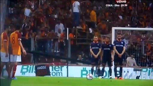 Selcuk Inan gets a yellow card because he argued with Belhanda about free kick!