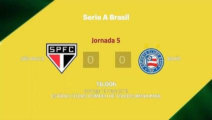 Resumen partido entre São Paulo y Bahía Jornada 5 Liga Brasileña