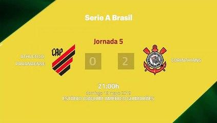 Resumen partido entre Athletico Paranaense y Corinthians Jornada 5 Liga Brasileña