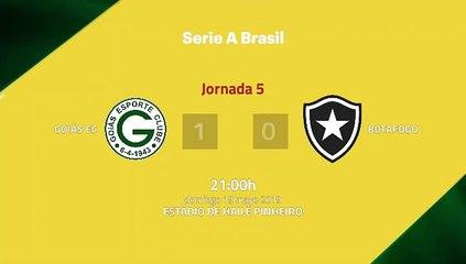 Resumen partido entre Goiás EC y Botafogo Jornada 5 Liga Brasileña
