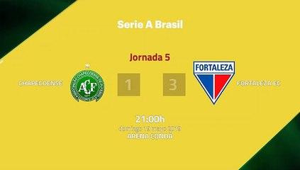Resumen partido entre Chapecoense y Fortaleza EC Jornada 5 Liga Brasileña