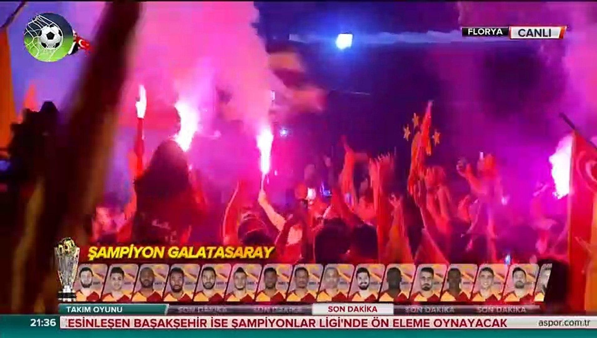 Galatasaray 2-1 Başakşehir  şampiyon GALATASARAY