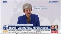 """Brexit: Theresa May demande aux députés britanniques de faire """"des compromis"""""""