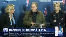 C'est l'ancien conseiller de Donald Trump ... Comment l'américain Steve Bannon soutient Marine Le Pen