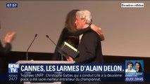 Touché au cœur, Alain Delon fond en larmes lors de sa remise de la Palme d'honneur