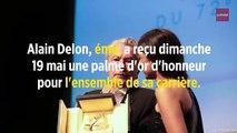 Festival de Cannes : en larmes, Alain Delon reçoit sa palme d'or d'honneur