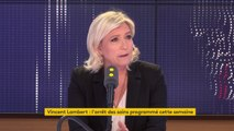 """Marine Le Pen demande à Emmanuel Macron de s'exprimer sur le cas de Vincent Lambert. """" Le questionnement est évidemment sur l'euthanasie"""""""