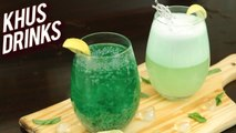 Homemade Khus Drinks - Summer Cooler Recipes - Quick Party Mocktail Recipes - Ruchi