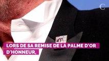 PHOTOS. Cannes 2019 : quand Alain Delon snobe ses deux fils avec un pin's collector lors de la remise de sa Palme d'honneur