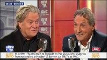 Steve Bannon et Marine Le Pen, l'oncle gênant venu d'Amérique