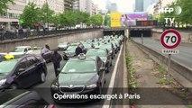 Taxis et auto-écoles mobilisés: opération escargot à Paris