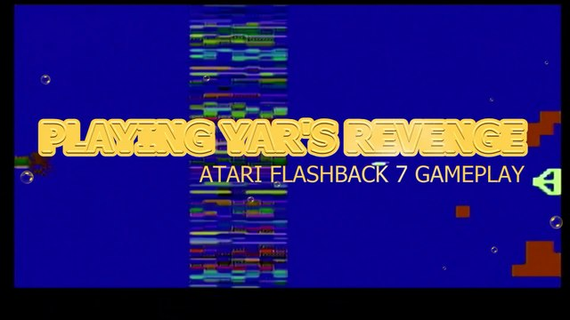 Playing Yar's Revenge - Atari 2600 Gameplay (1982)