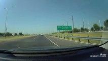 Ce conducteur se prend un bureau en pleine autoroute... Mysterieux