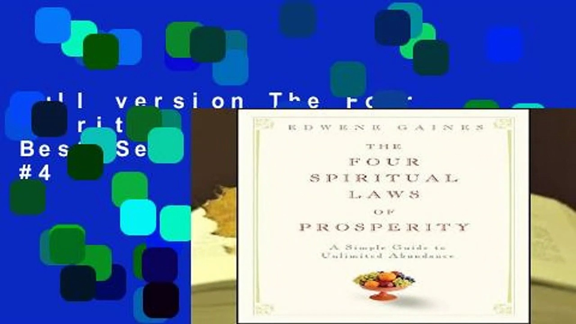 Full version The Four Spiritual Laws Of Prosperity Best Sellers Rank : #4
