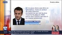 """Emmanuel Macron dit vouloir être """"acteur"""" des élections européennes et désigne ses """"ennemis"""""""