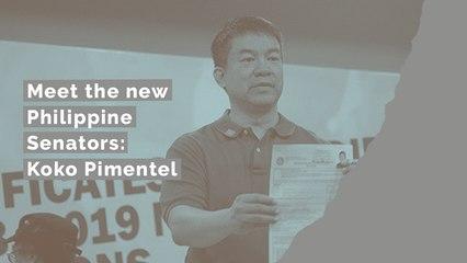 Meet the new Philippine Senators: Koko Pimentel