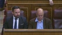 Primera escena de tensión en el Congreso: Abascal ocupa el escaño de Lastra