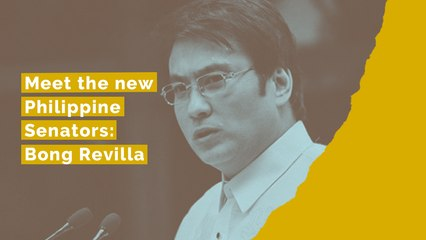 Meet the new Philippine Senators: Bong Revilla Jr.