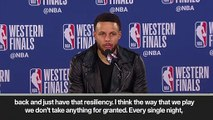 (Subtitled) '5 straight finals - it's kind of crazy to think about'  Steph Curry after Warriors make finals