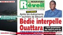 Le Titrologue du 21 Mai 2019 : Après les événements meurtriers de Béoumi, Bédié interpelle Ouattara