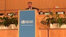 Sağlık Bakanı Fahrettin Koca, Dünya Sağlık Asamblesi Genel Kurulu'na Hitap Etti