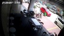 Wall collapses and damages 13 parked cars in China's Guangdong