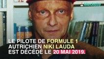 Le pilote de formule 1 Niki Lauda est décédé