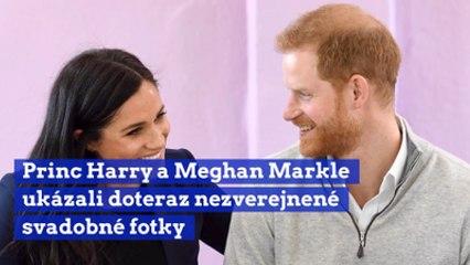 Princ Harry a Meghan Markle ukázali doteraz nezverejnené svadobné fotky