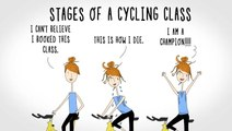 Stages Of A Cycling Class & Other Memes