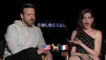 Anne Hathaway & Jason Sudeikis Attempt To Solve Monster Movie Emoji Riddles
